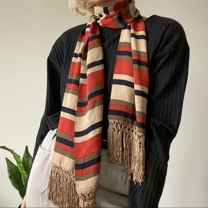 Autumnal Striped Scarf